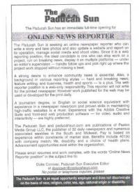 Online Paducah Sun Newspaper seeks new identity and workers