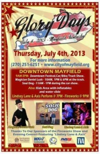 Mayfield celebrates 4th of July with Glory Days