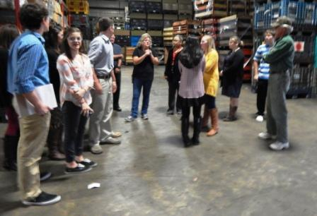 Leadership Class visits Peerless, Harper Hams and First Community Bank