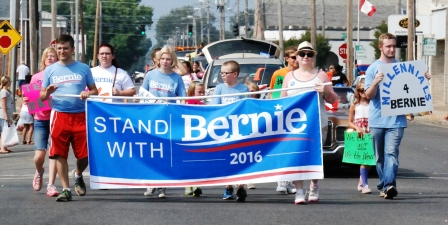 The biggest political contingent in Paducah's Labor Day parade was for Bernie Sanders