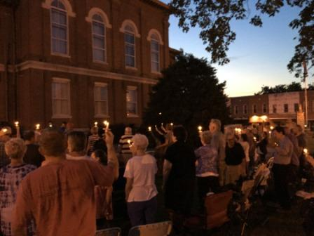 Hope and healing on a courthouse lawn