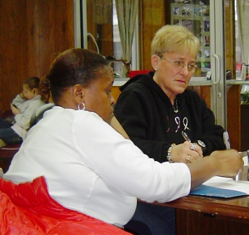 Councilwomen Yvette Thomas and Phyllis Campbell