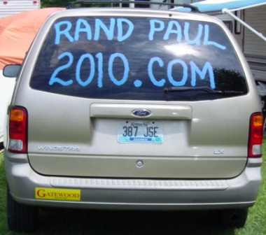 Fancy Farm 2009 - Gatewood and Rand Paul signs