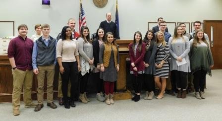 Hickman County Chamber Leadership students interact with local officials
