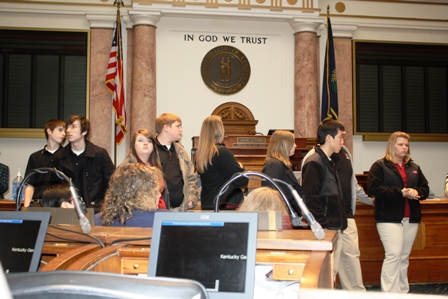 Hickman County students tour the House chambers