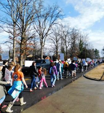 Murray march draws hundreds from region