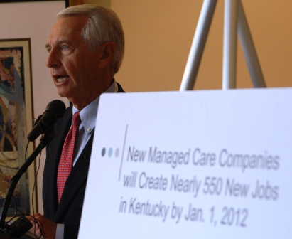 Governor Beshear presents managed care for Medicaid