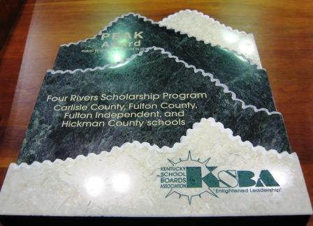 The Peak Award is presented by KSBA to Four Rivers Foundation