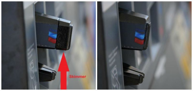 Look at the gas pump - skimmers trying to steal your $$